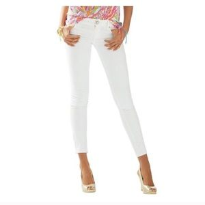 NWT Lilly Pulitzer White Skinny 'Worth It' Pant 94